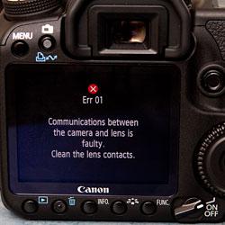 Canon 40D Err01 Hatası